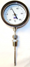 Thermometers - 63mm, 100mm & 150mm Bimetal Rigid Stem