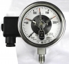 Pressure gauge with switches